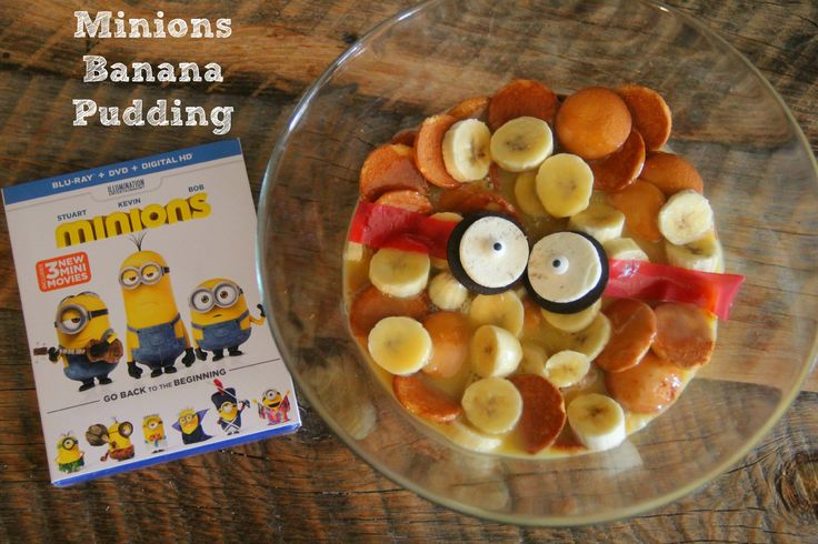 This Christmas eve we are going to have a Minions movie night and make this minions banana pudding! #MinionsMovieNight  Check it out here: http://asweetpotatopie.com/2015/12/18/minions-banana-pudding-and-dvd-movie-release/ #ad