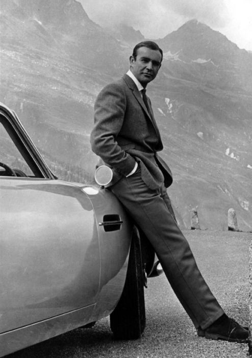Sean Connery - I remember watching him in Darby O'Gill and the Little People and thinking how haaaandsome he was...  :)
