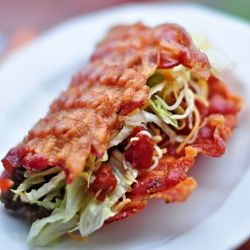 Bacon shell tacos!: Fun Recipes, Low Carb, Mr. Tacos, Lowcarb, Tasti Recipes, Bacon Tacos Shells, Savory Recipes, Bacon Shells, Breakfast Tacos