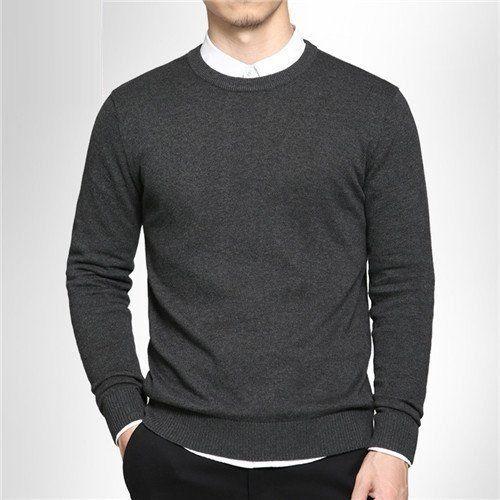 gentclothes:  Dark Grey Crewneck Sweater
