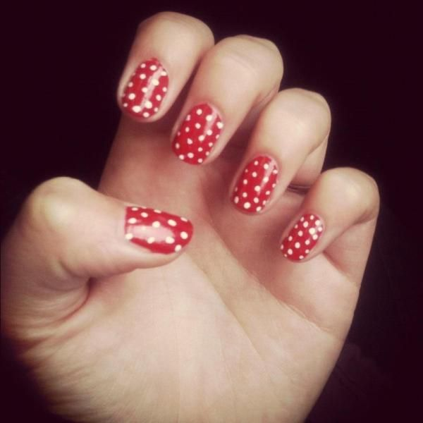 DIY Polka Dot Nails: Nails Art, Nails Review, Nails Fast, Polka Dots Nails, Diy'S Polka, Long Nails, Prints Nails, Nails Varnish, Diy'S Nails