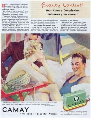 Vintage ad for Camay soap. 1930's