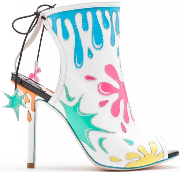 """Sophia Webster """"Arty Party"""" Leather Bootie"""