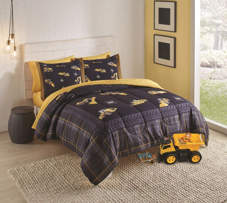 caterpillar cat merchandise caterpillar merchandise caterpillar cat equipment twin size kids. Black Bedroom Furniture Sets. Home Design Ideas