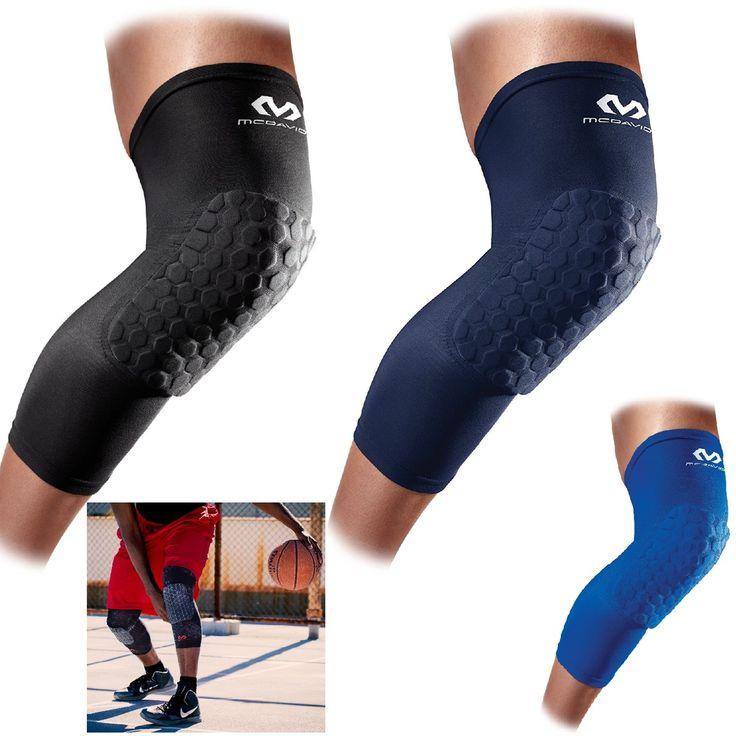 Mcdavid Knee Pad Compression Leg Sleeve For Basketball Hexpad Protective Hex  #McDavid