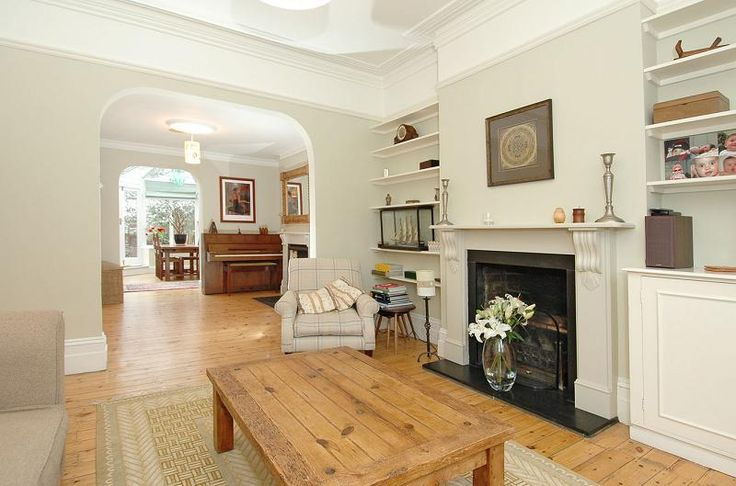 Check out this photo of a cream clinical wooden flooring dining room on Rightmove Home Ideas