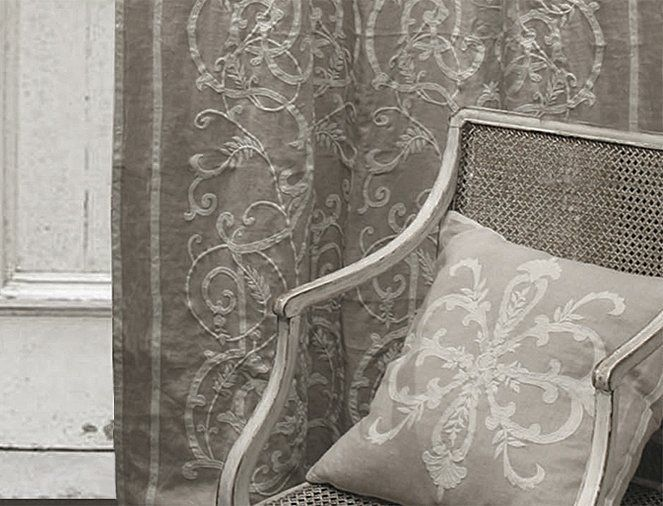 INTERIORS - Soft Furnishings - Frances Linen Applique Curtain Panel by English Home on Wanelo