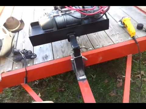 Homemade winch mount trailer quick connect. - YouTube