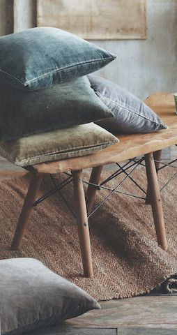 Denim might usually be reserved for your clothing, but it also makes a great cushion