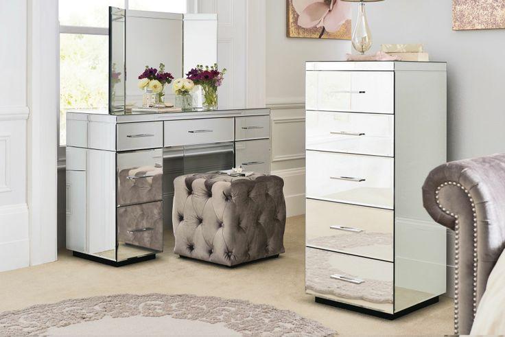 5 drawer mirrored chest 2