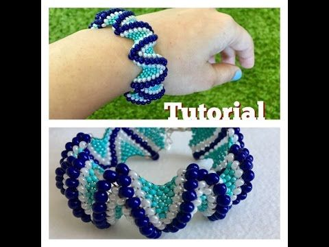 How to make peyote bracelet (TUTORIAL) - YouTube