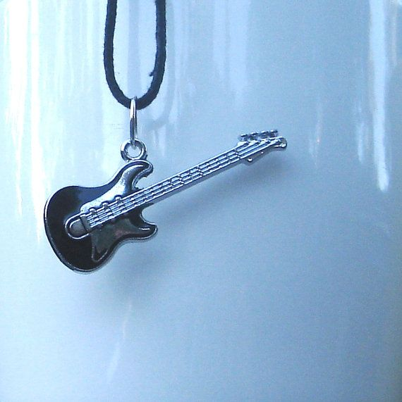 Bass Guitar Pendant Electric Bass Jewelry Bass Guitar Necklace