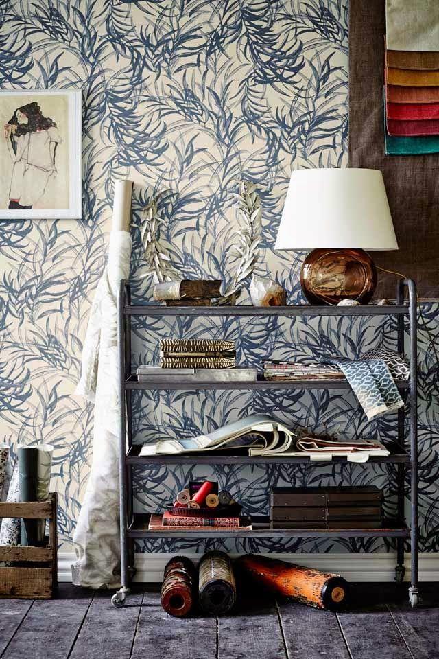 Botanic Garden designed by Danish wallpaper and fabric designer Helene Blanche for Flügger