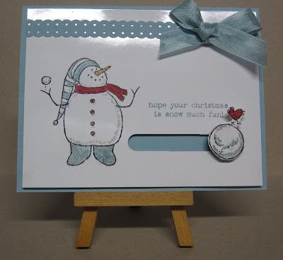 Krafting with Karen: Snowball Spinner Card