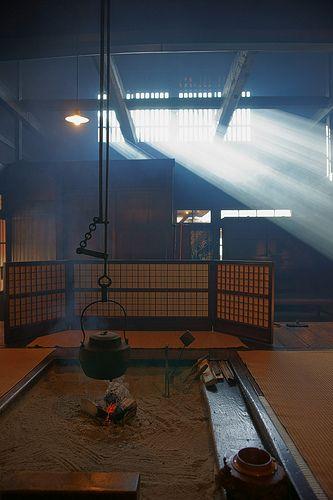 Fireplace-old farmhouse-Japan