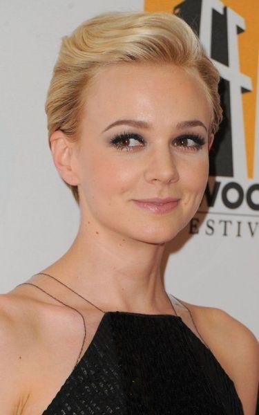 Carey Mulligan- i love her makeup against the hair.