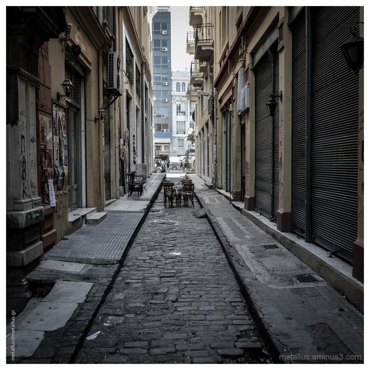 """""""In the middle of the street""""  Valaoritou area at Thessaloniki, Greece 2013"""