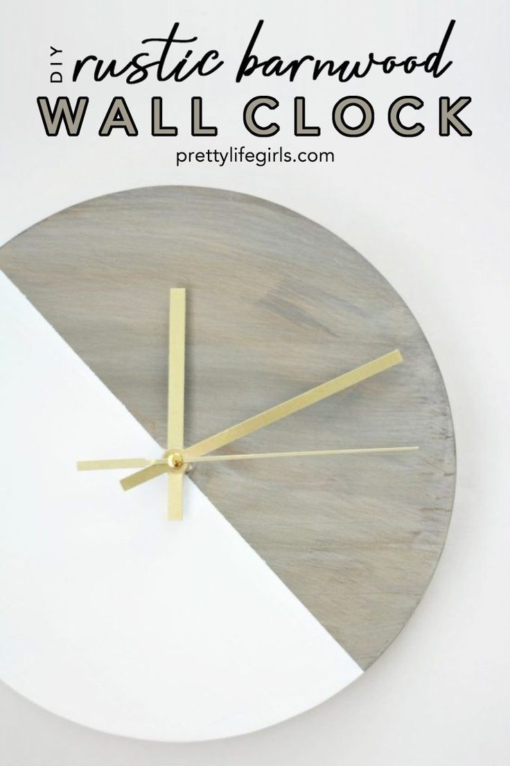 Diy Rustic Reclaimed Barnwood Clock Rustic Diy Barn Wood Diy Decor Projects