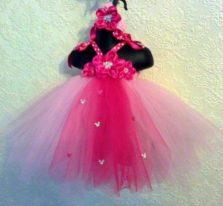 "Mini mouse inspired tutu dress and headband. Find us on Facebook, look for ""Tutu es Belle"""