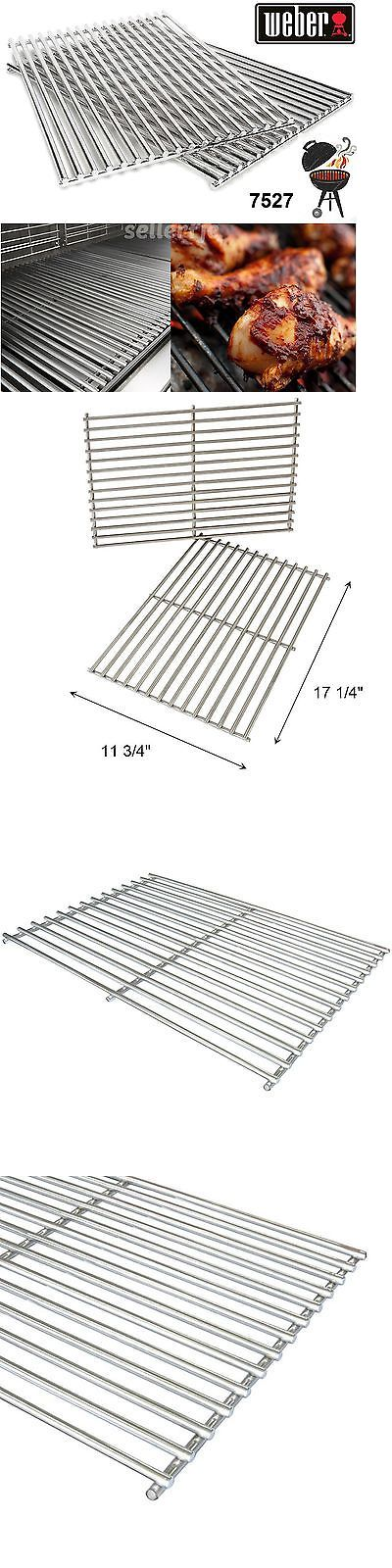 BBQ and Grill Replacement Parts 177018: For Weber 7527 Set Of 2 Solid Stainless Steel Cooking Grates Spirit Genesis 9930 -> BUY IT NOW ONLY: $66.8 on eBay!