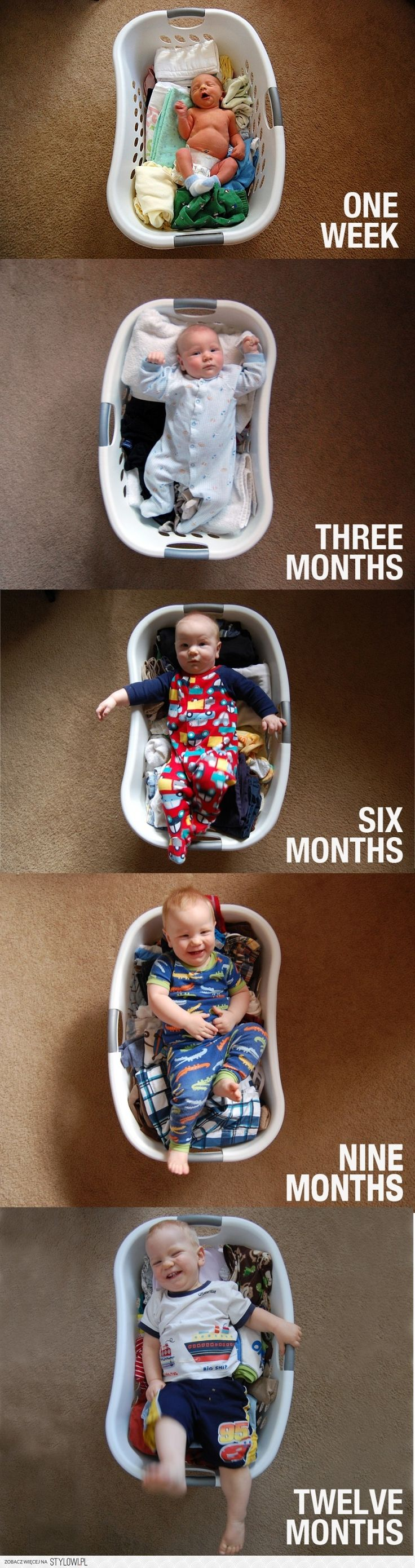 It's so easy to show, how your baby gets bigger and bigger!