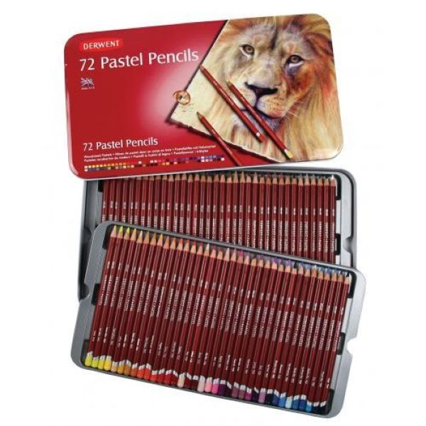 Derwent Pastel Pencil Tin Set of 72