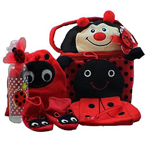 Art of Appreciation Gift Baskets Little Lady Bug-a-boo New Baby Gift Basket, Girl