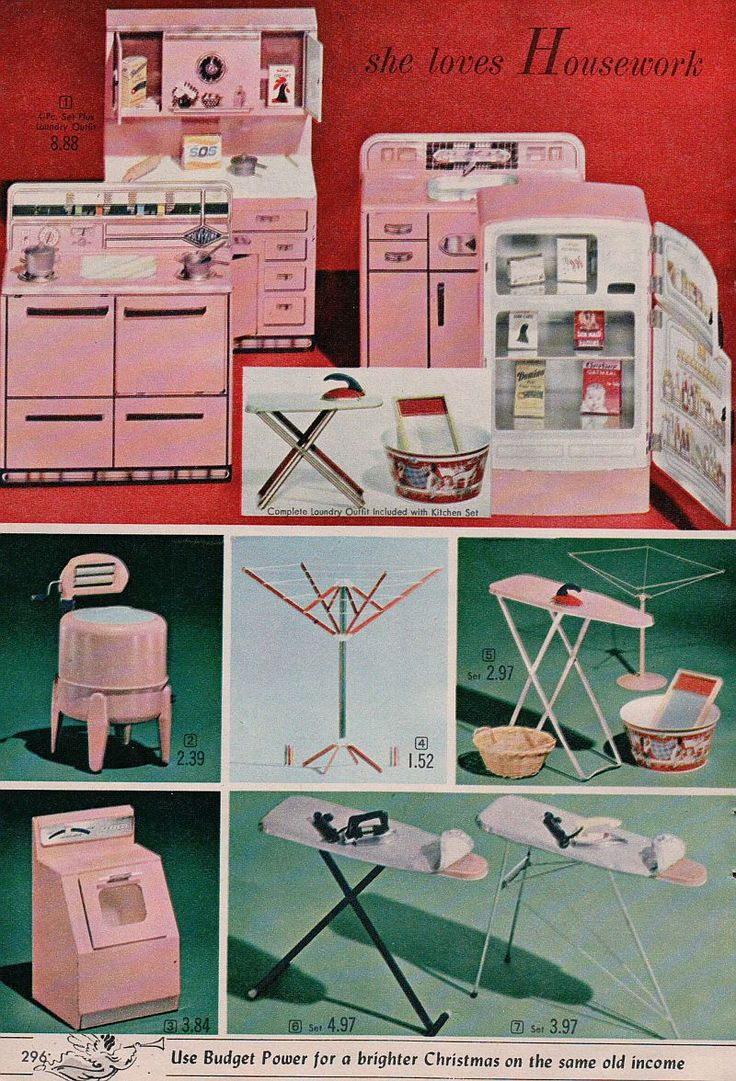 Image detail for -... Ad Kitchen Appliance Toys Wringer Washer Ironing Board Stove and Sink