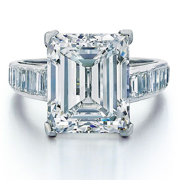 Marla Maples Donald Trump Engagement Ring, 7.45-carat emerald-cut diamond ring by Harry Winston