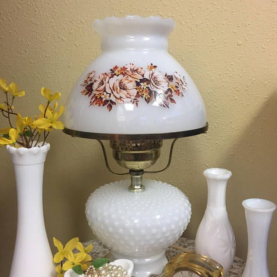Vintage Milk Glass Lamp Shade Fits 8 Base Scalloped Top Edge Gone With The Wind Style For Student Pole Swag Or Milk Glass Glass Lamp Shade Milk Glass Lamp