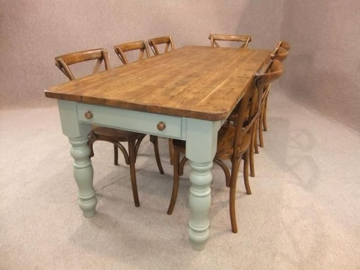 4ft reclaimed pine farmhouse kitchen table with a painted base winchcombe in antiques antique furniture - Kitchen Tables Ebay