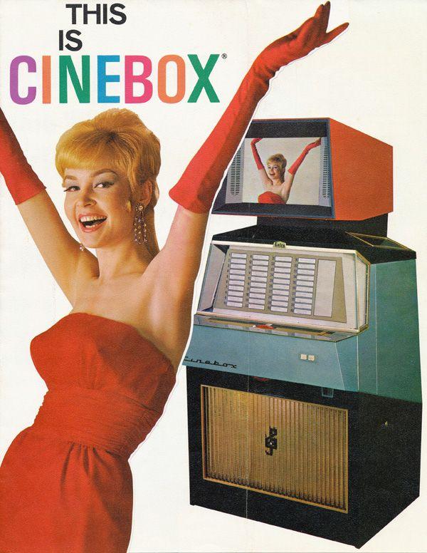 CineBox - Movie Jukeboxes ( retro vending machine / retro media player / vintage juke box advertisement )