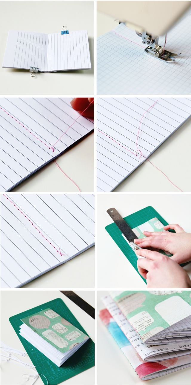 How to make Quick and Easy Stitched Diy Notebooks