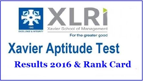 XAT Exam Result 2016 Xavier Aptitude Test Merit List Cut Off Marks xatonline.net.in