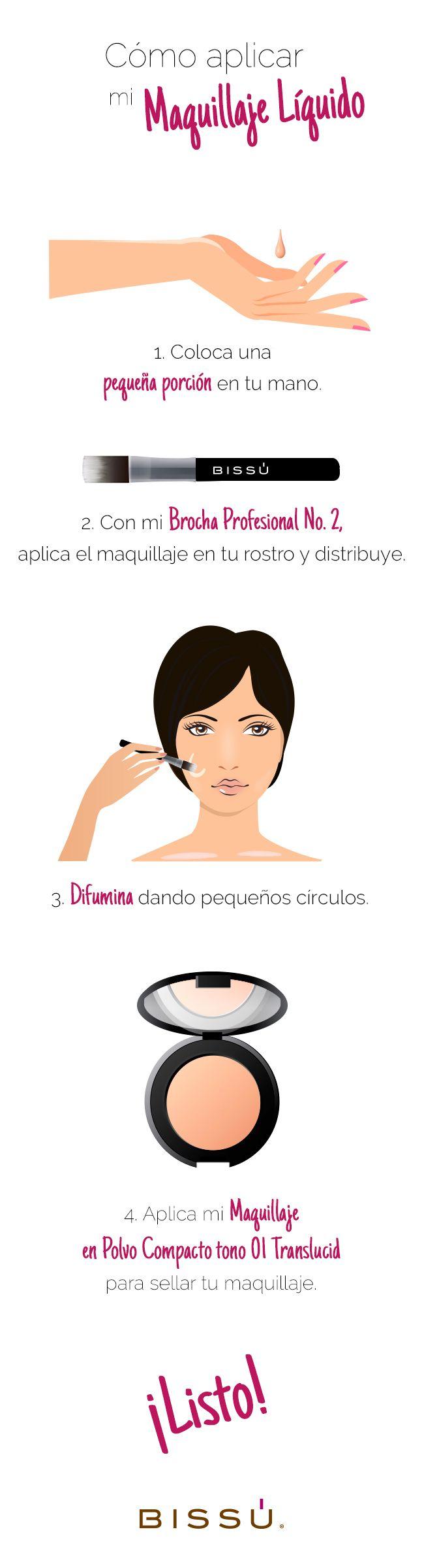 Aplica correcamente tu Maquilaje Líquido. http://tiendaweb.bissu.com/rostro/205-maquillaje-liquido.html