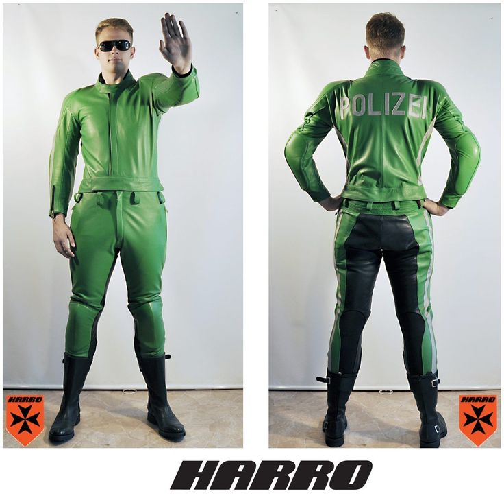 HARRO Motorradkombi Polizei, German leather uniform police NEU 110 Lederkombi | eBay