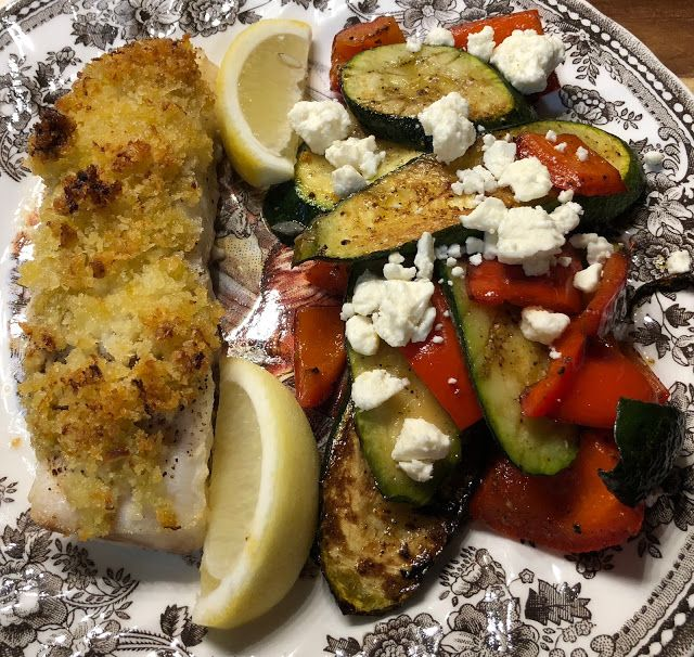 57th Home Chef Delivery Review & $30 Coupon, Greek Panko Crusted Cod #homechef