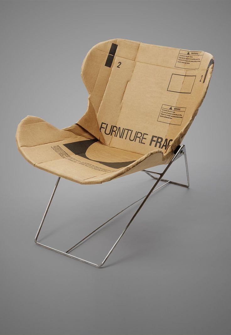 Dan Goldstein; Steel and Cardboard 'Re-Ply' Lounge Chair, 2012.