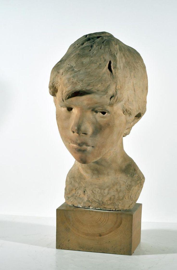 Gemito Vincenzo (Napoli 1852 - 1929) Testa di ragazzo terracotta