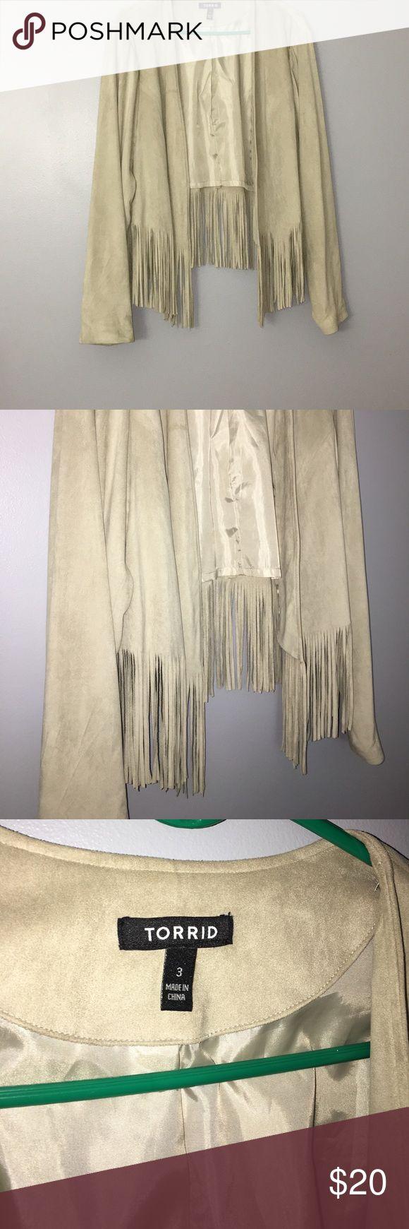 Torrid Fringe Suede Jacket Only Worn once Jackets & Coats