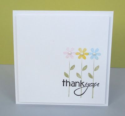 This was stamped on a separate piece of card then matted onto a blank but it would work well on a single layer
