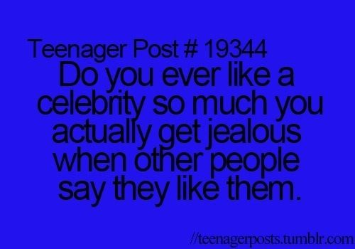 Literally me. Then I have to think of reasons to hate them, because I even hate liking them that much... O