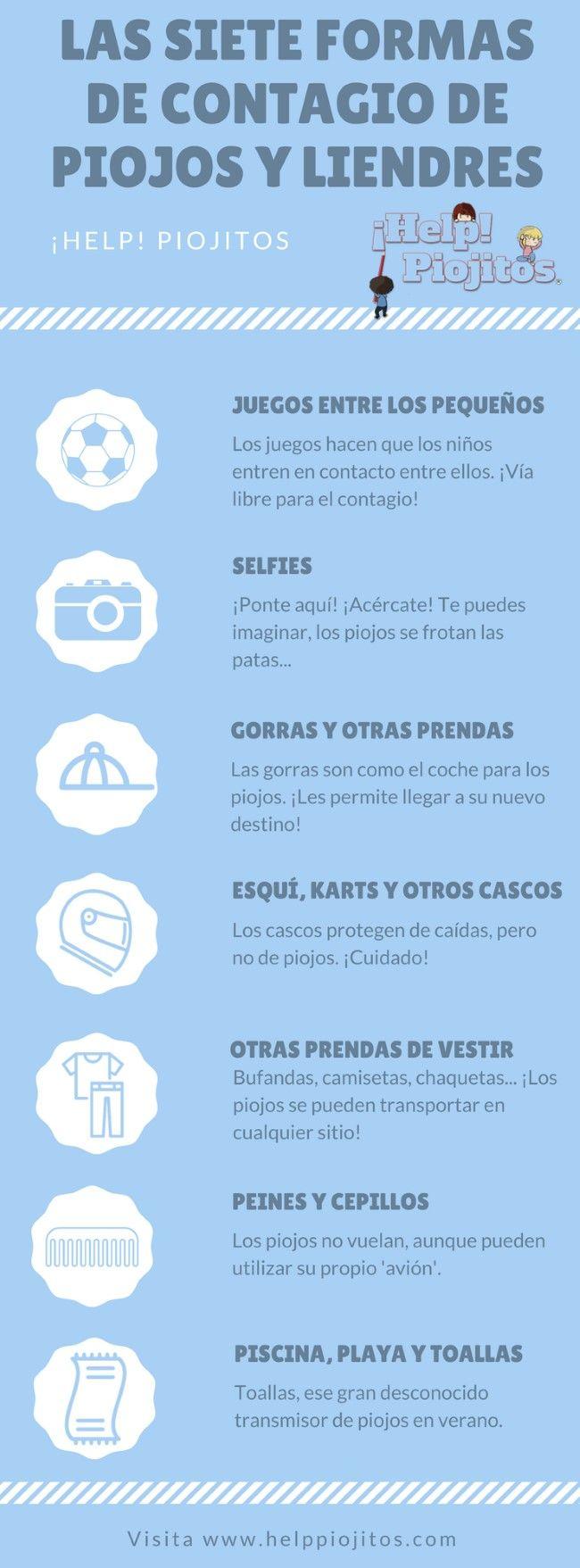Las 7 maneras más habituales de #contagio de #piojos. ¿Cómo se contagian los piojos? www.helppiojitos.com