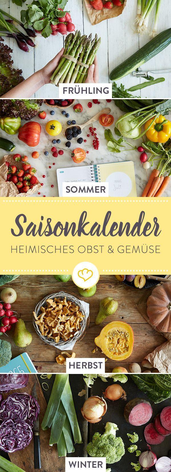 Essen im Einklang mit der Natur! In unserem Saisonkalender erfährst du, wann welche Obst- und Gemüsesorten in Deutschland Saison haben.