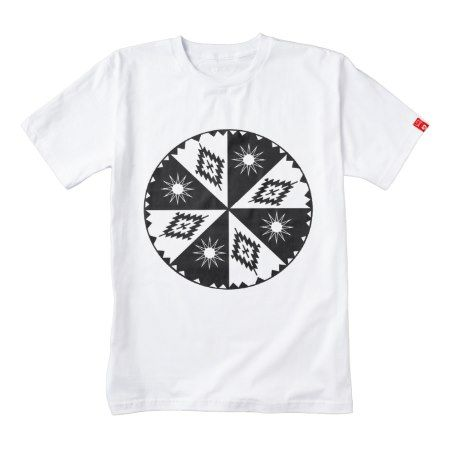 Aztec Sun and Diamond Black and White Zazzle HEART T-Shirt - click/tap to personalize and buy