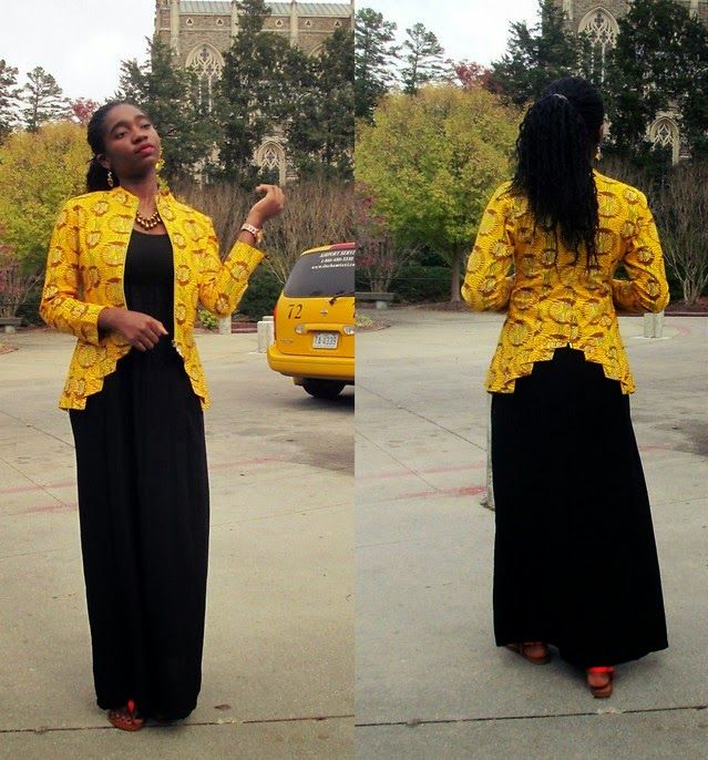 Yellow Ankara Jacket Design