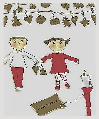 Art of Annie: Trevlig 1:a advent. Figurerna Yngve och Yxla.