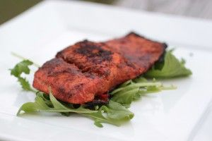 Jamaican Jerk Salmon - Paleo  ** Brown Sugar emitted!!     Classic Jamaican jerk spices bring new and exciting flavors to this salmon dish. Jamaican jerk seasoning often uses brown sugar to add sweet flavor to offset the spicy kick that it gives. To make this paleo, we omitted the sugar and just let the spices enhance this meal on their own.