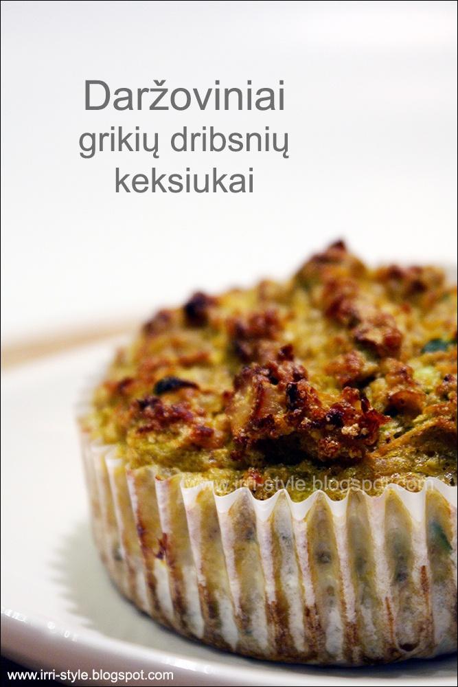 IRRI style: Daržoviniai grikių dribsnių keksiukai
