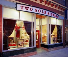 Two Sole Sisters,locally owned shoe and accessory boutique in Boulder, CO.